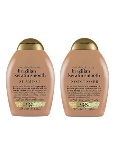 OGX Ogx Brazilian Keratin Smooth Şampuan 385 ml Renksiz